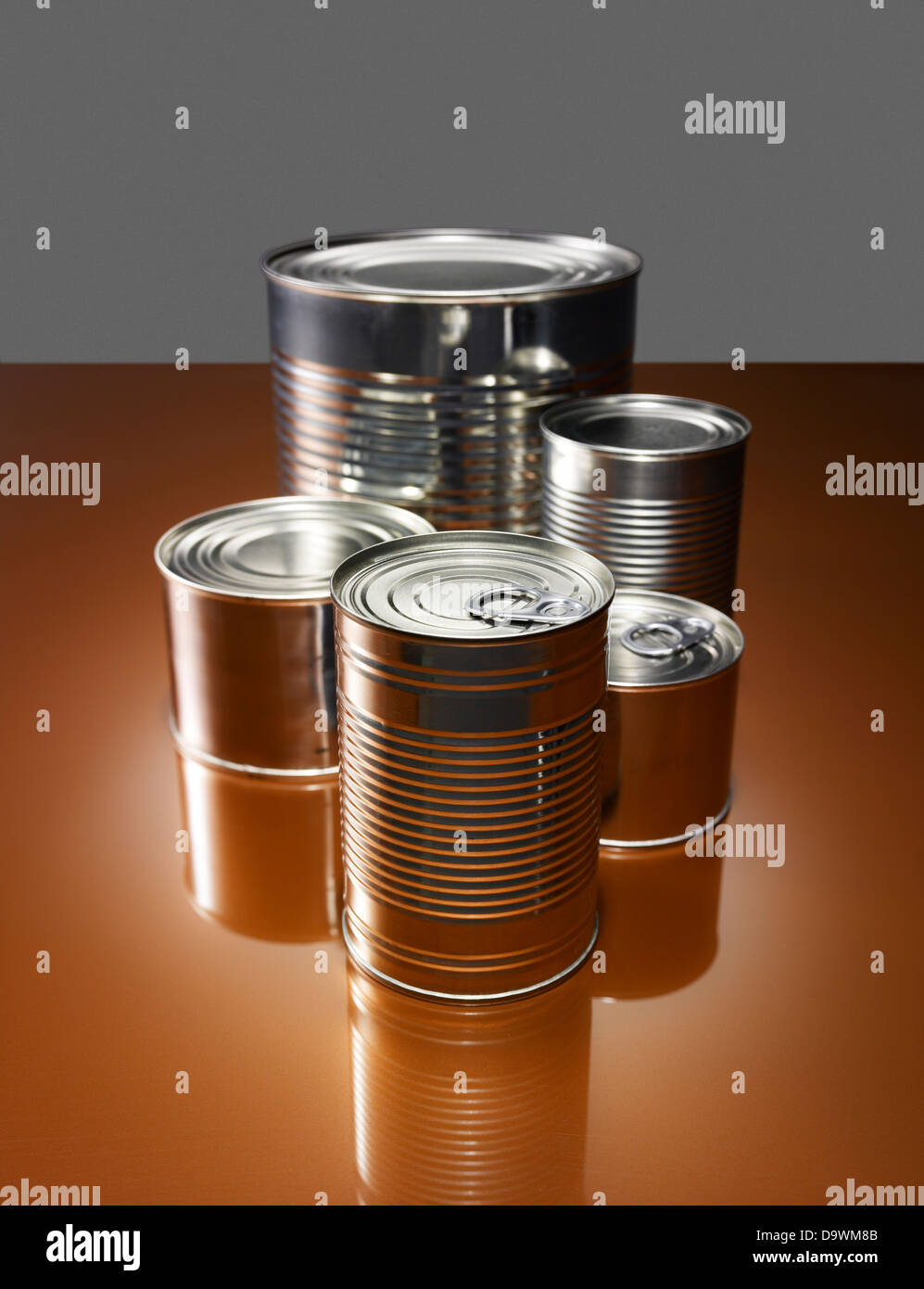 Cans - Stock Image