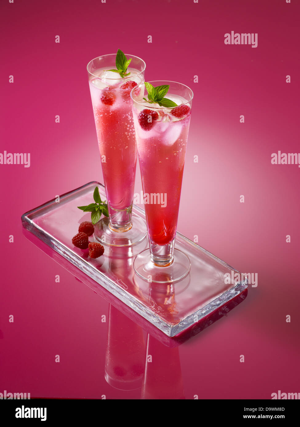 Pink drinks - Stock Image