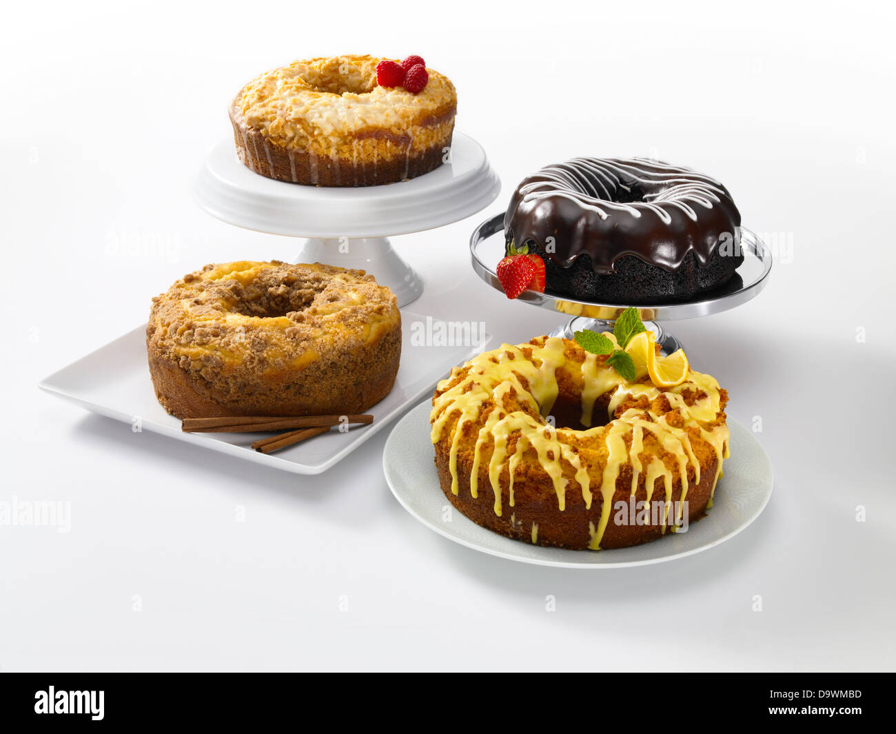 Classic cakes - Stock Image