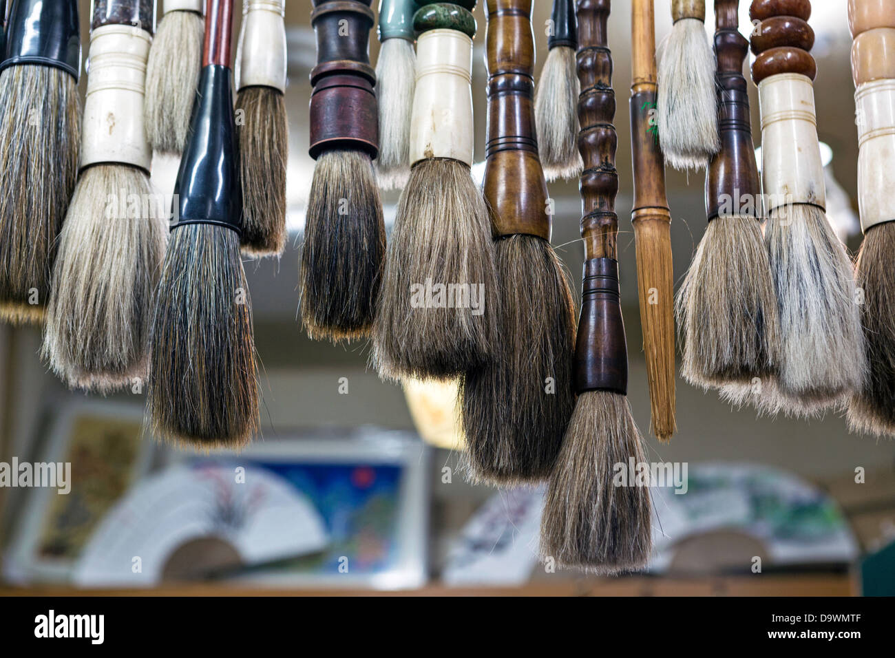 Calligraphy Brushes for sale in Insa-dong, Seoul, South Korea, Asia - Stock Image