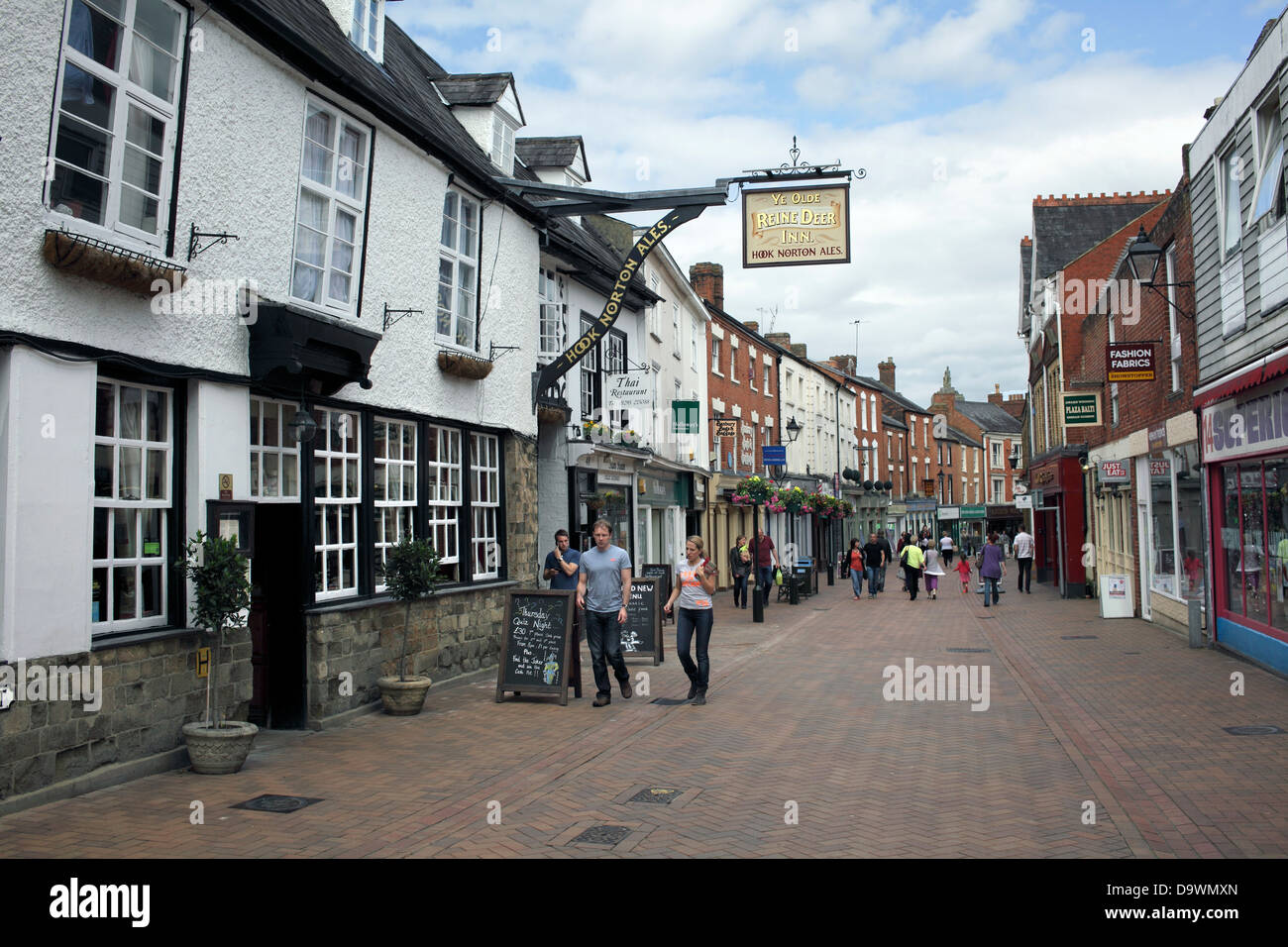 parsons street banbury town centre oxfordshire stock image