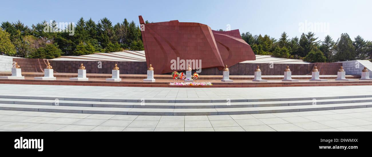 Democratic People's Republic of Korea (DPRK), North Korea, Revolutionary Martyrs' Cemetery - Stock Image