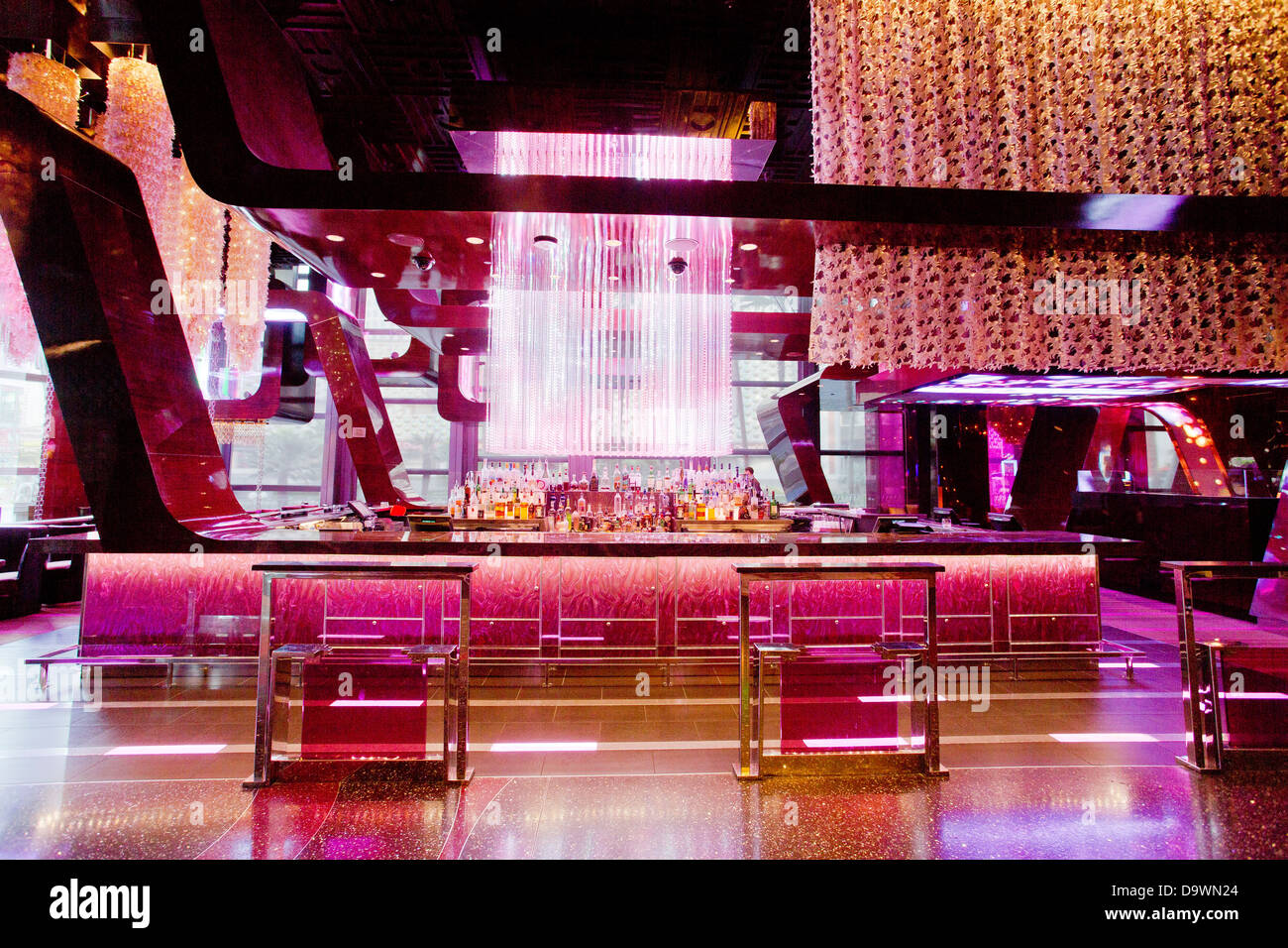 cosmopolitan of las vegas luxury resort casino and hotel interior of the lounge and bar