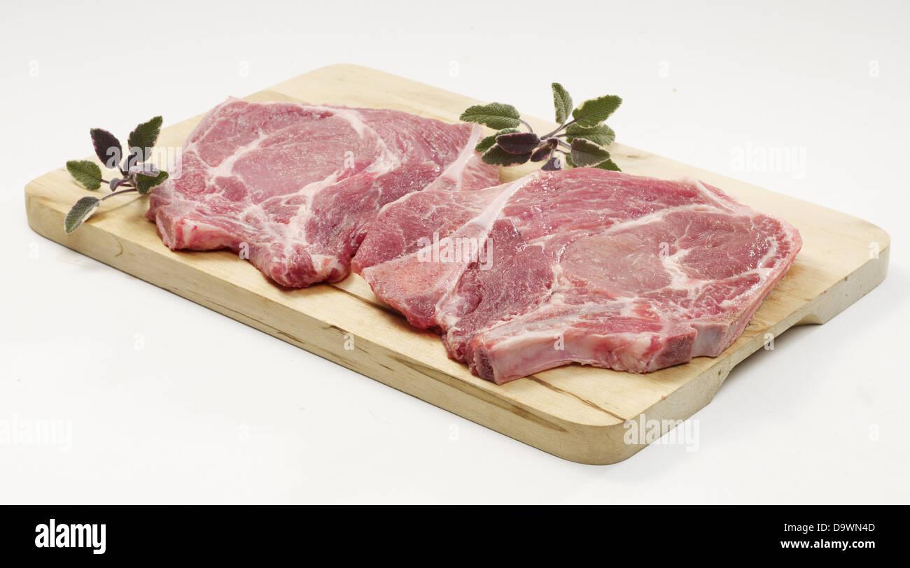 pork blade raw - Stock Image