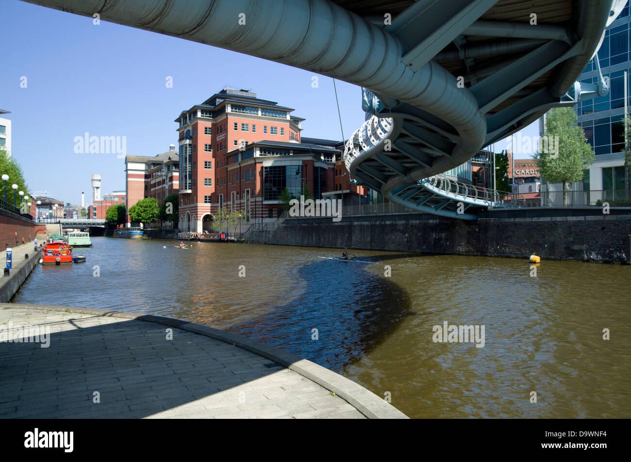 temple quay and river avon, bristol, england. - Stock Image