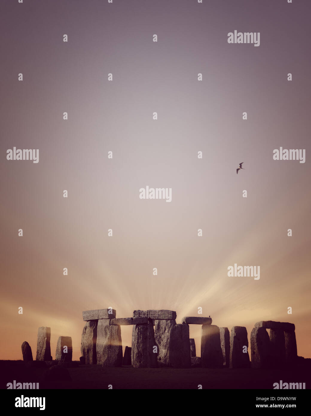 GB - WILTSHIRE: The Standing Stones of  Stonehenge Stock Photo