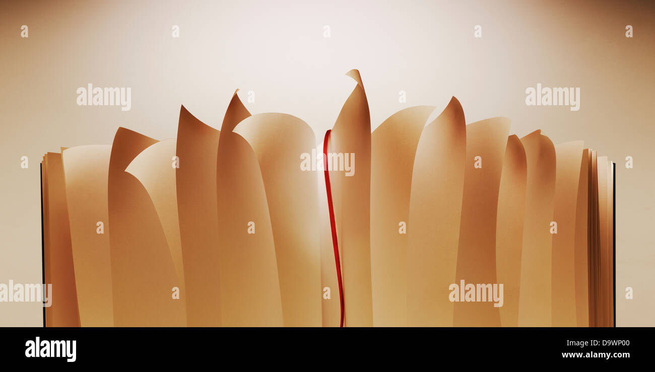Open book - Stock Image