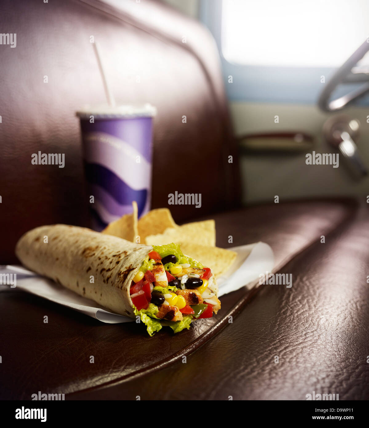 perfect burrito - Stock Image