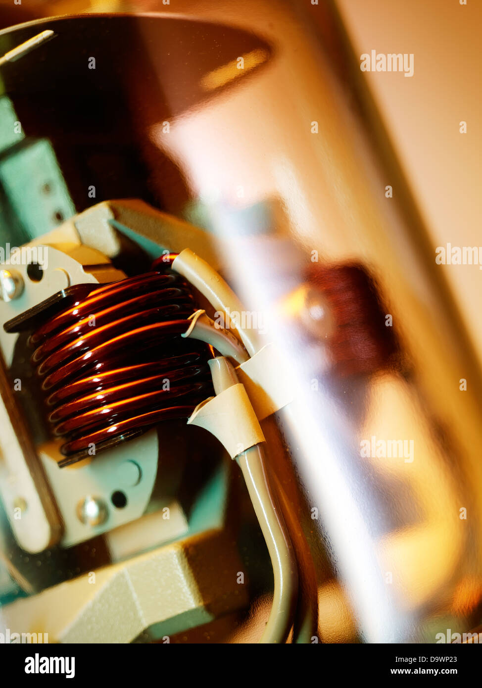 electric meter close up - Stock Image