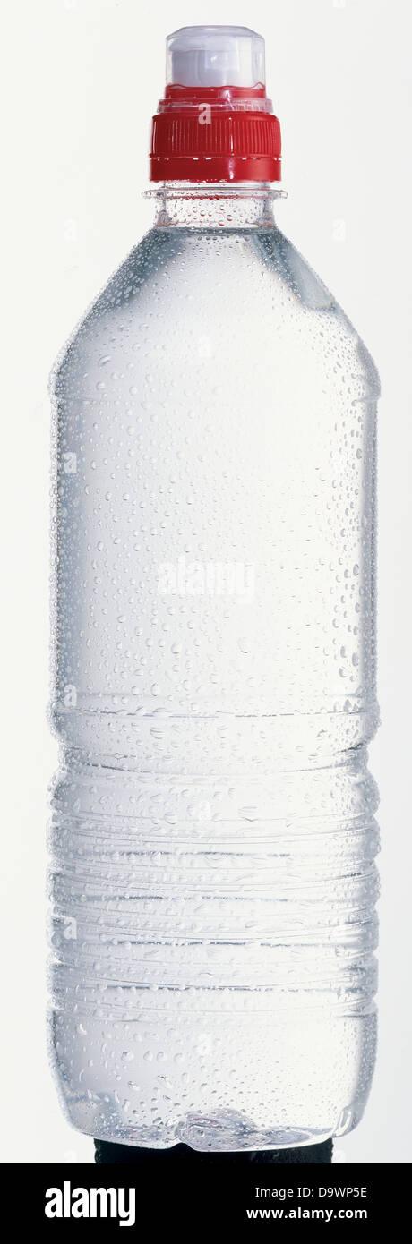 fresh plastic water bottle - Stock Image