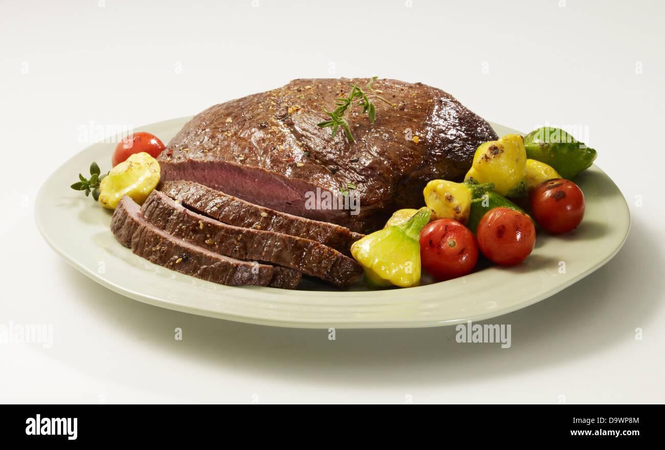sirloin tip roast cut - Stock Image
