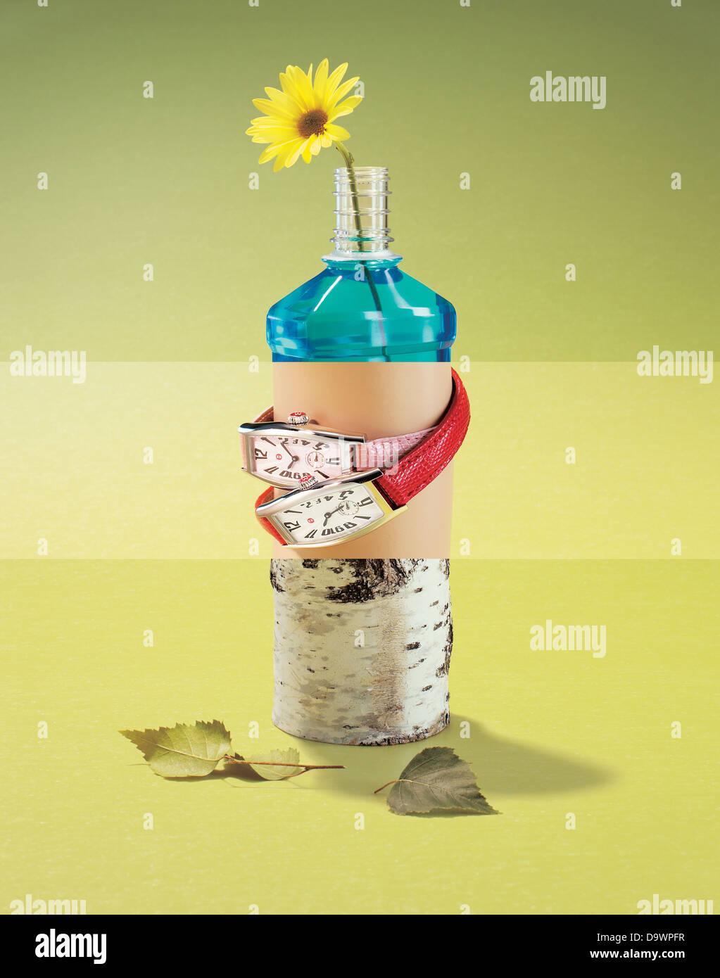 conceptual flower - Stock Image