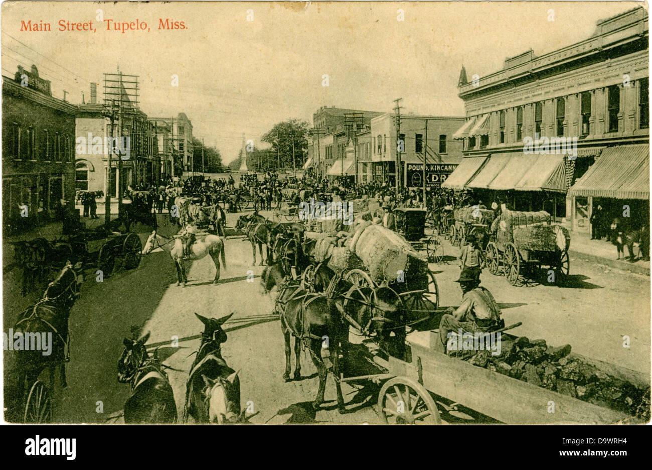 Main Street, Tupelo, Miss. - Stock Image