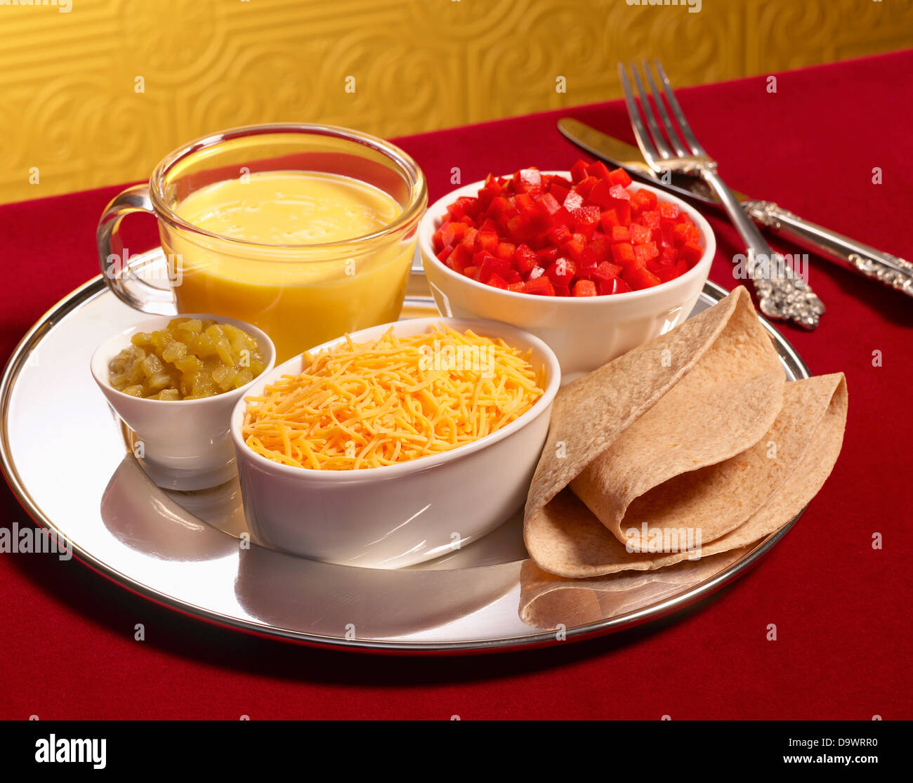 mexican food kit - Stock Image