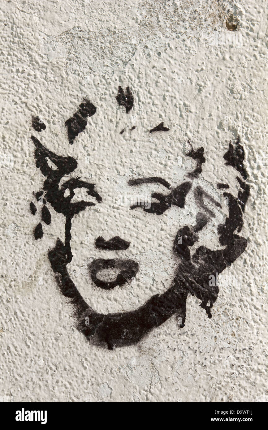 Tribute to Marilyn Monroe in Granada, Spain. In the year 2012 marks the 50th anniversary of the death of the actress. - Stock Image