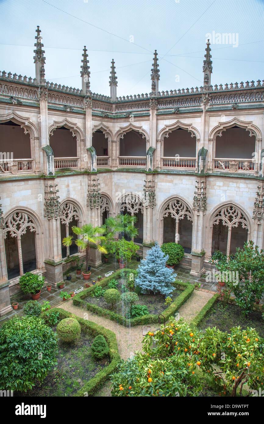 TOLEDO - MARCH 8: Gothic atrium of Monasterio San Juan de los Reyes Stock Photo