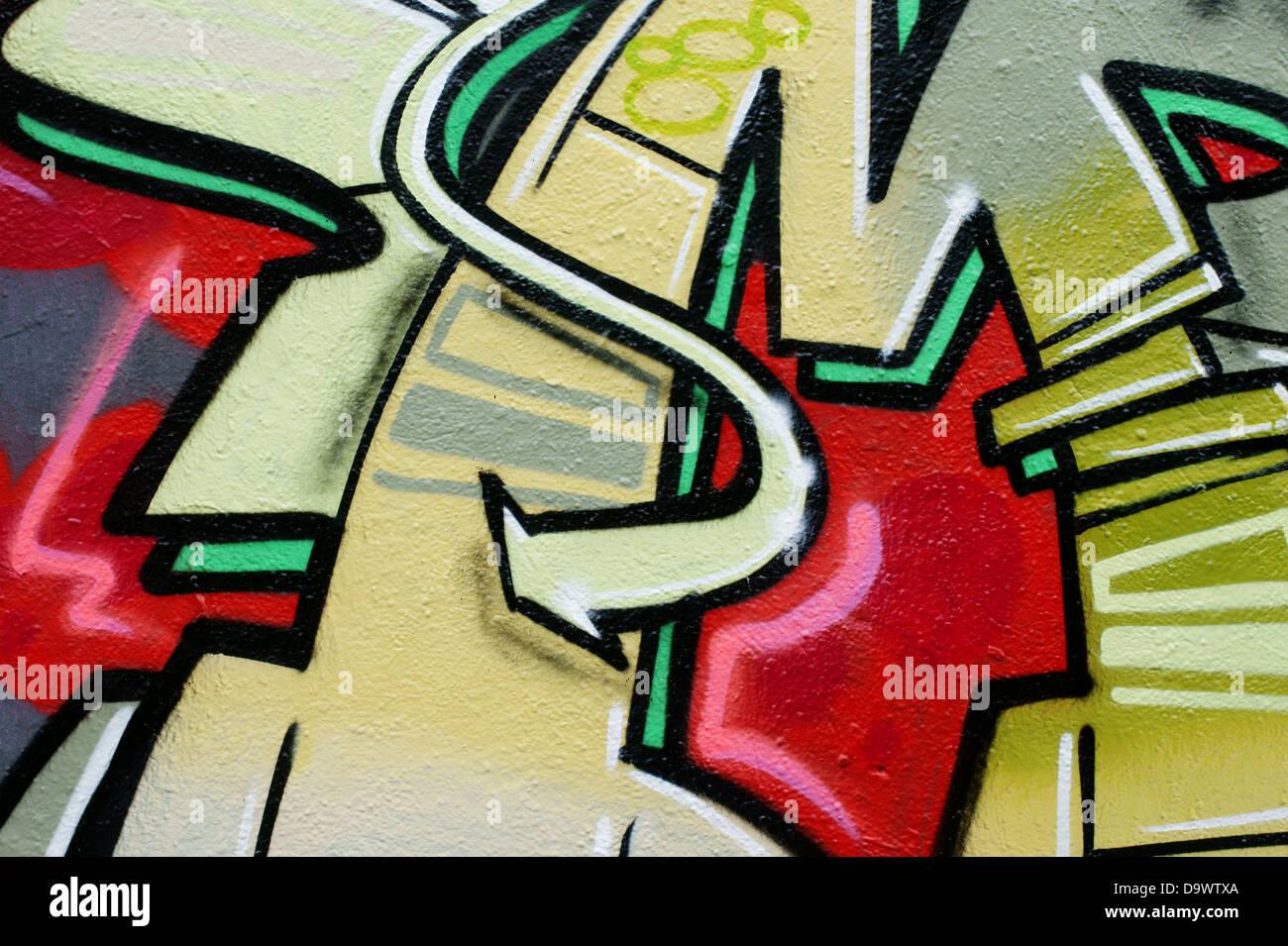 Arrow as Graffiti Stock Photo