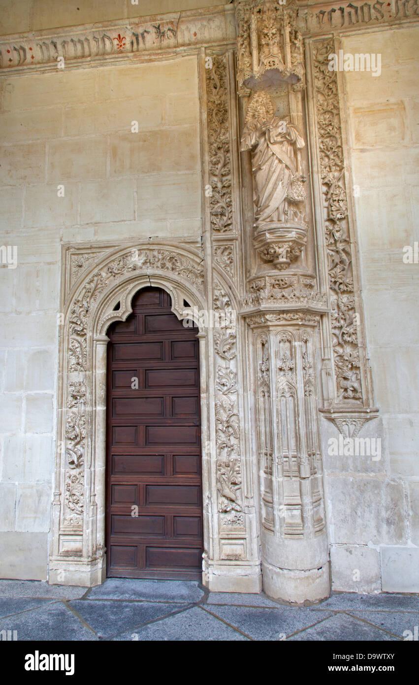 TOLEDO - MARCH 8: Portal atrium in Monasterio San Juan de los Reyes Stock Photo
