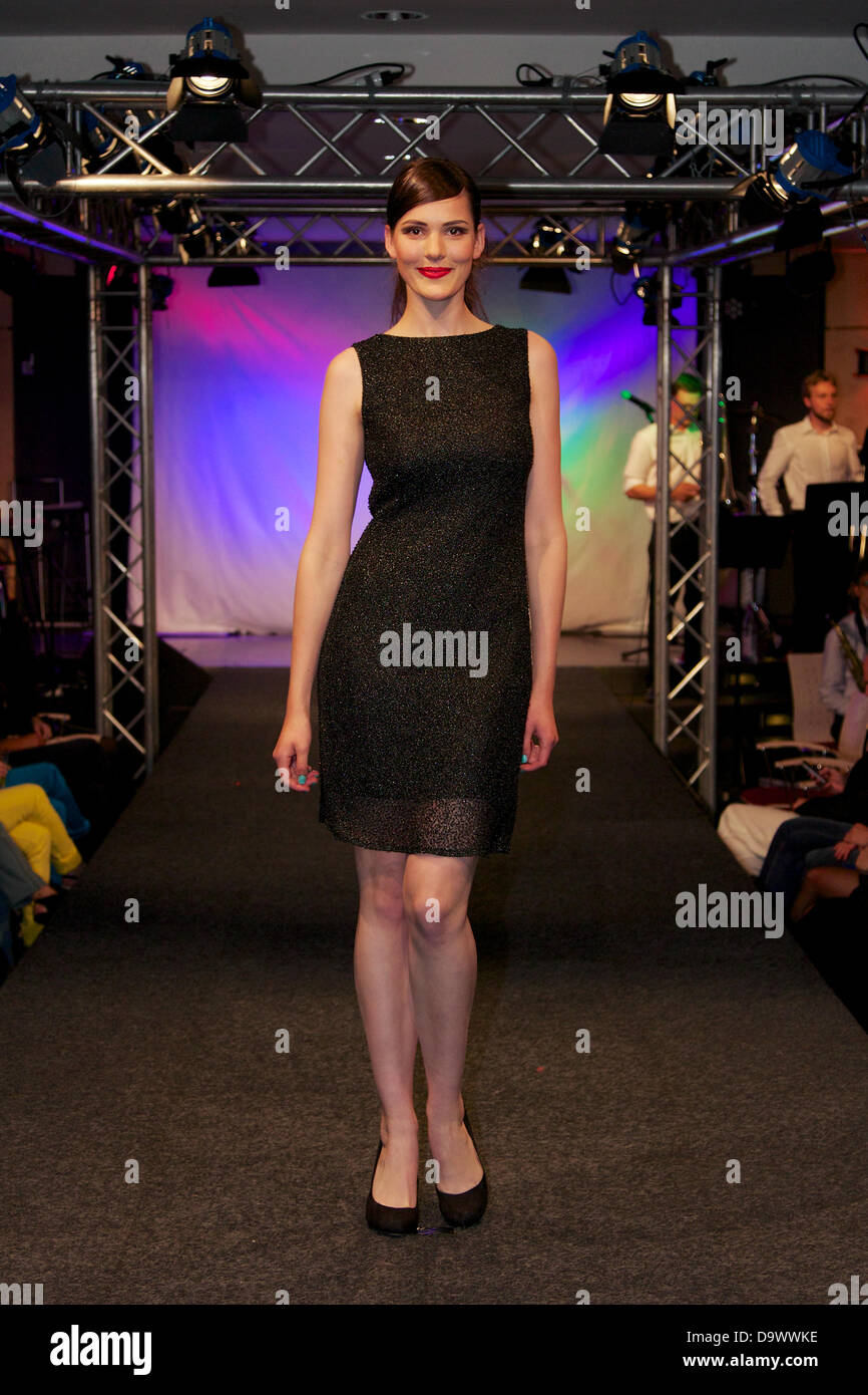Hamburg, Germany - June 21-22, 2013: Students of prestigious Bucerius Law School put on a two-day fashion show to - Stock Image