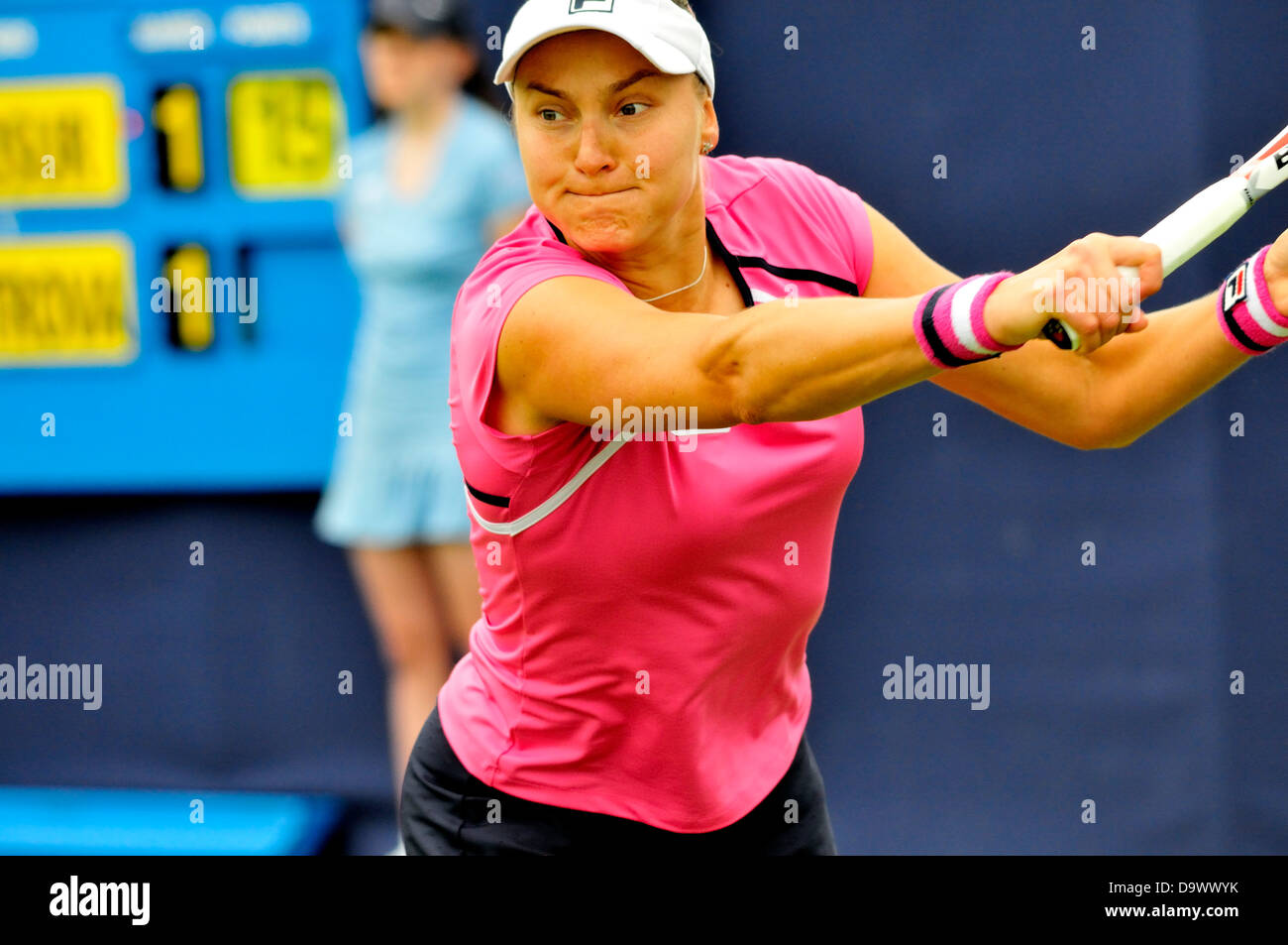 Nadie Petrova (Russia) at Eastbourne, UK. 2013 - Stock Image