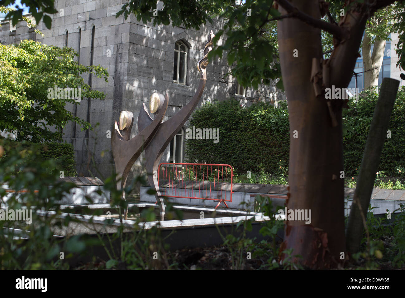 Special Olympics World Games sculpture, Chester Beatty Library, Dublin, Ireland. - Stock Image