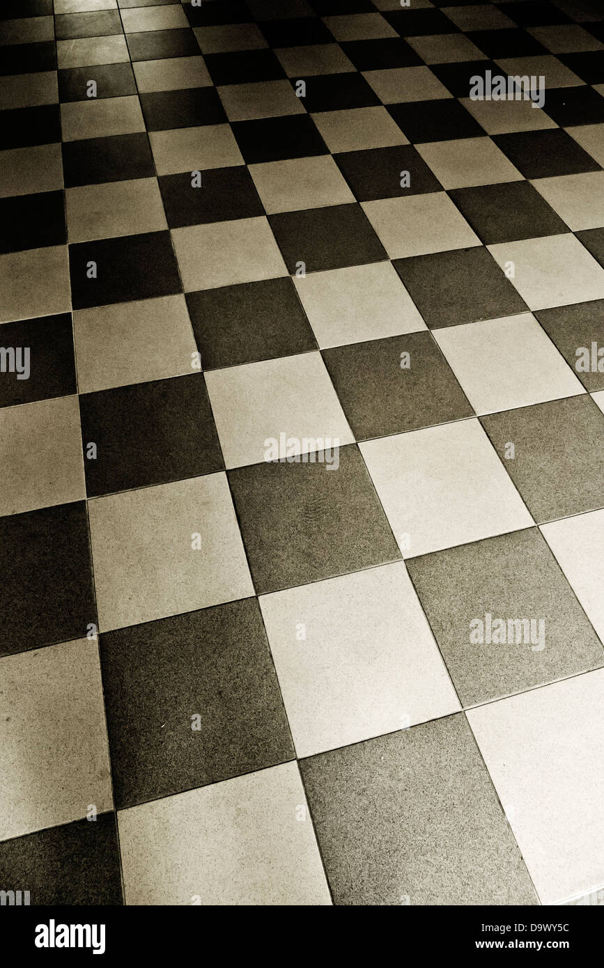 checkerboard floor - Stock Image
