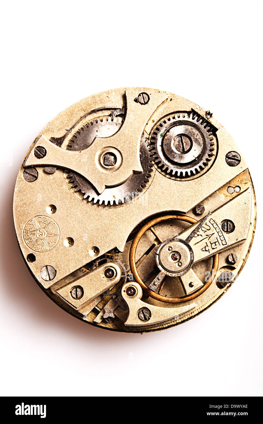 movements of a pocket watch - Stock Image
