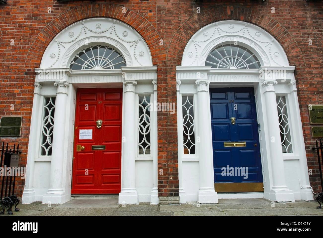 Georgian Building And Doors In Dublin City Center; Dublin Ireland & Georgian Building And Doors In Dublin City Center; Dublin Ireland ...