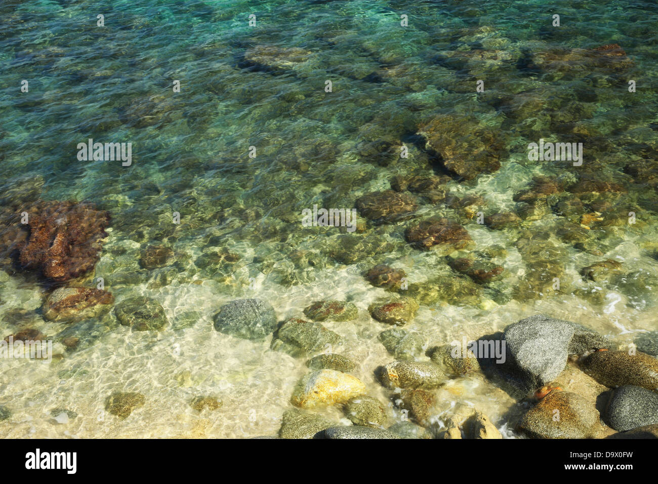 The transparency of the sea, Calabria,Briatico,Italy - Stock Image