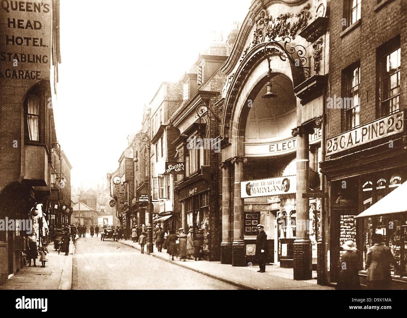 York Electric Cinema Fossgate early 1900s - Stock Image