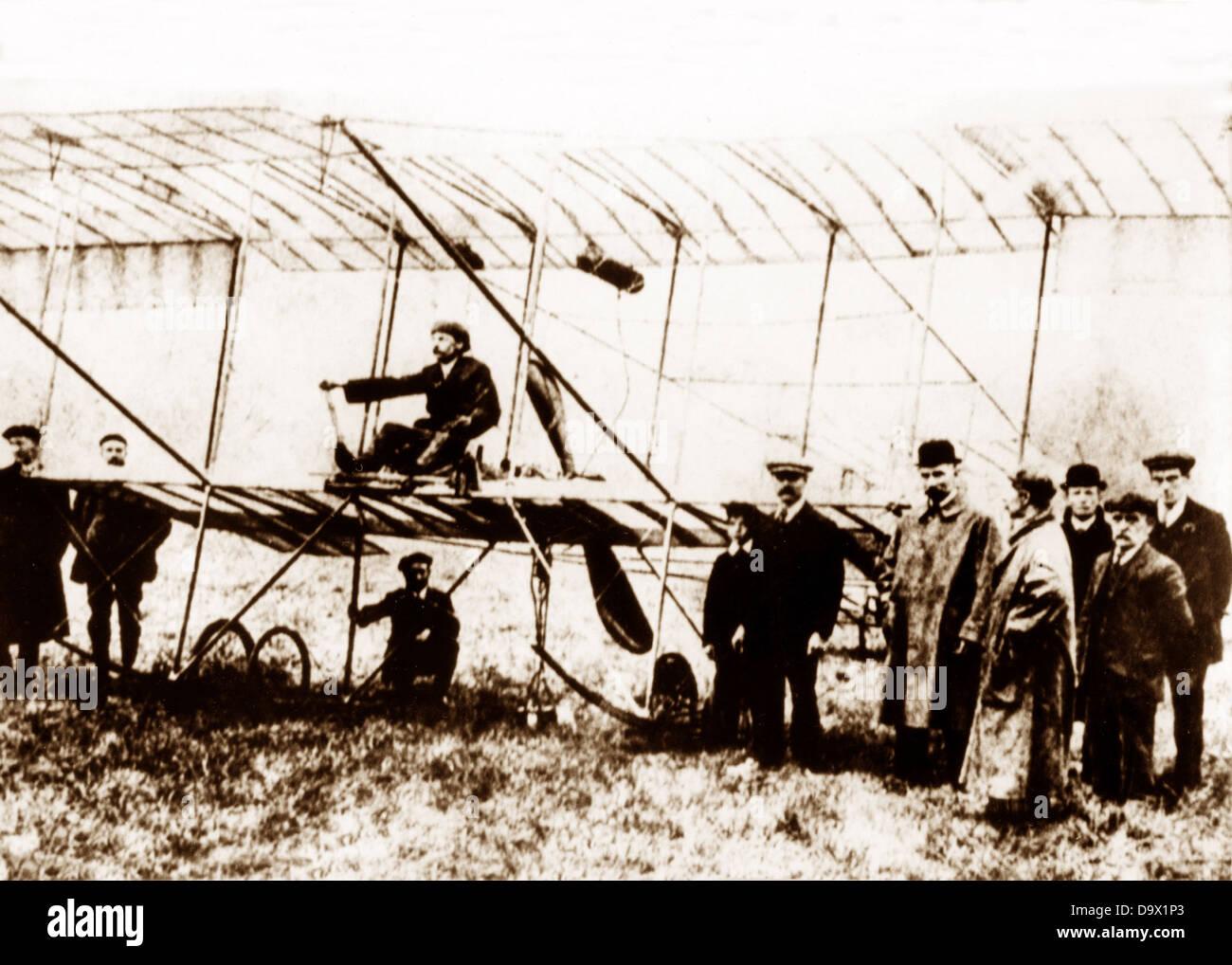 Empress biplane early 1900s Stock Photo
