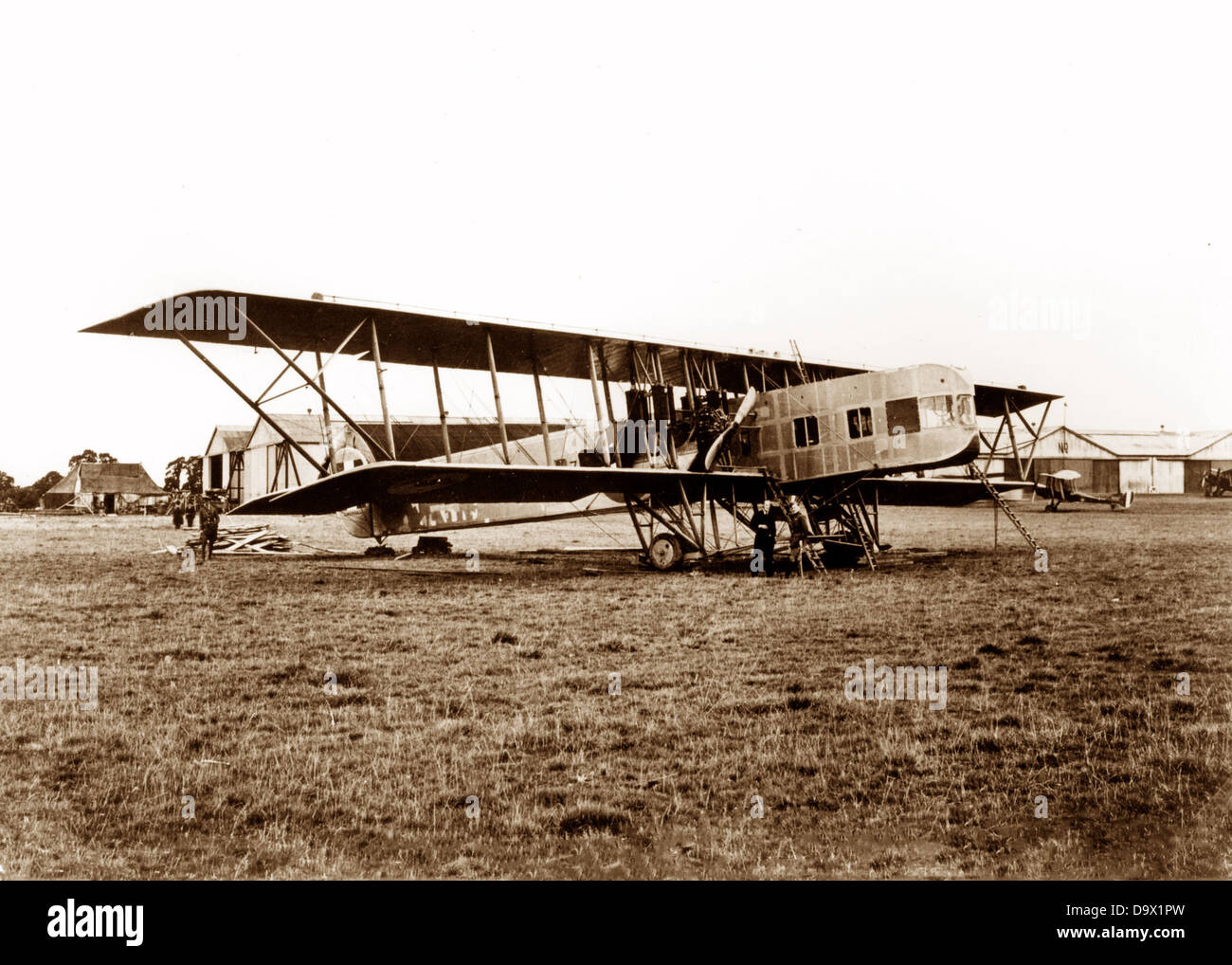 Kennedy Biplane in 1917 - Stock Image