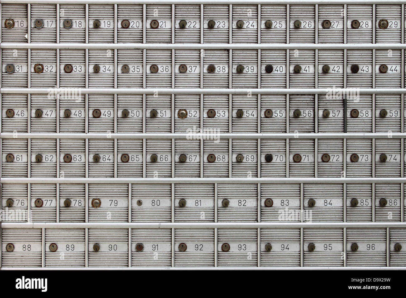 Safe deposit boxes in a bank agency - Stock Image