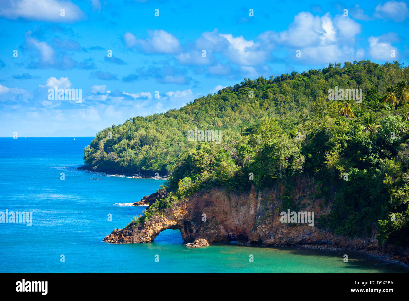 land bridge on the caribbean, st lucia - Stock Image