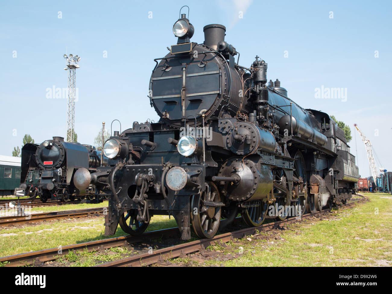 old steam locomotive - Stock Image