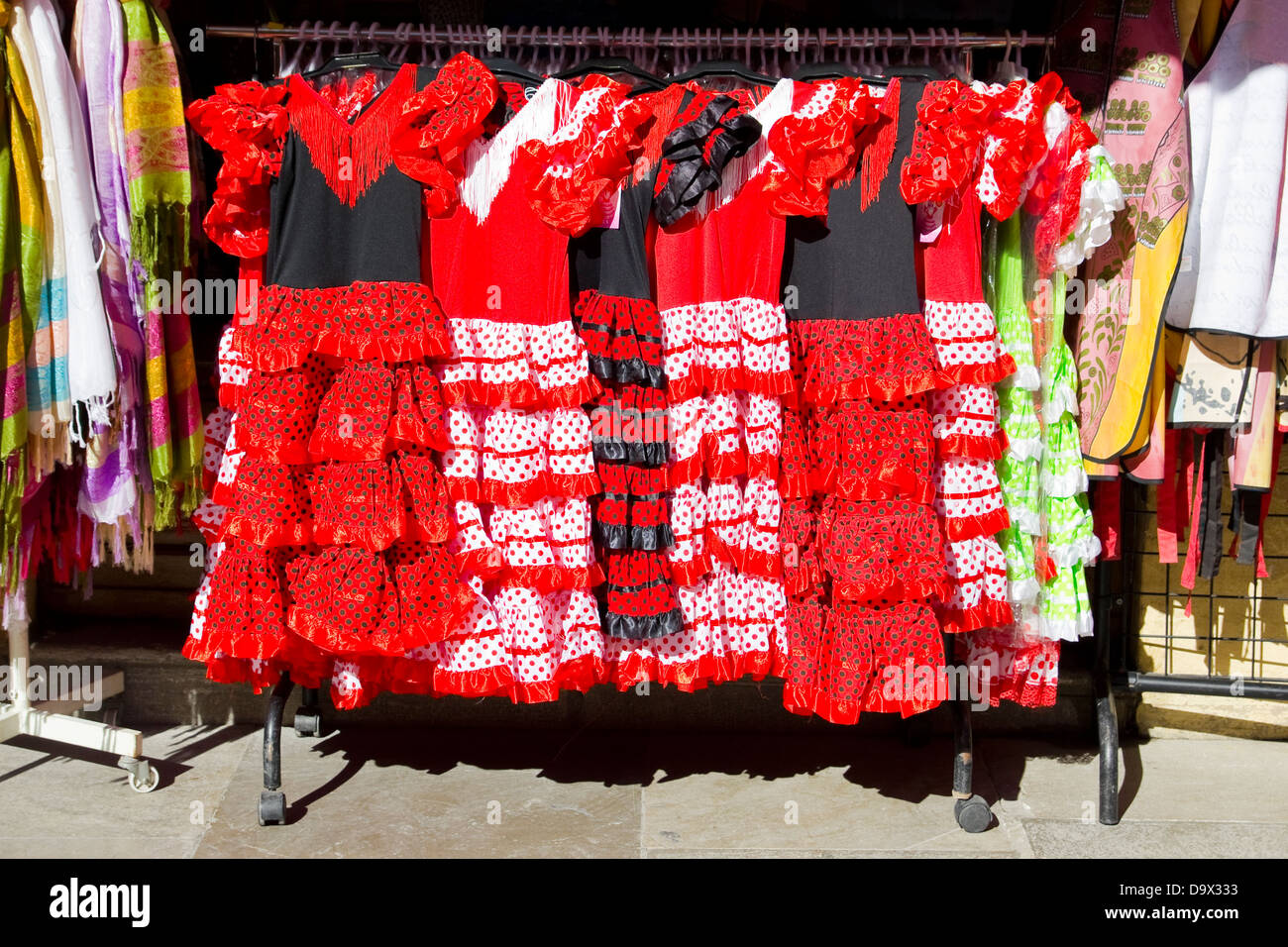gypsy costume of flamenco dancer - Stock Image