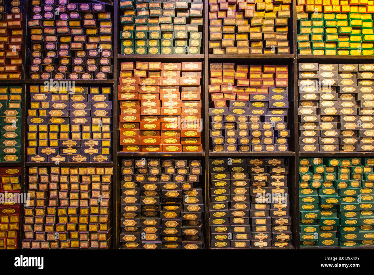 Harry Potter Wand Boxes Stock Photo  57737651 - Alamy dcb225f0191f