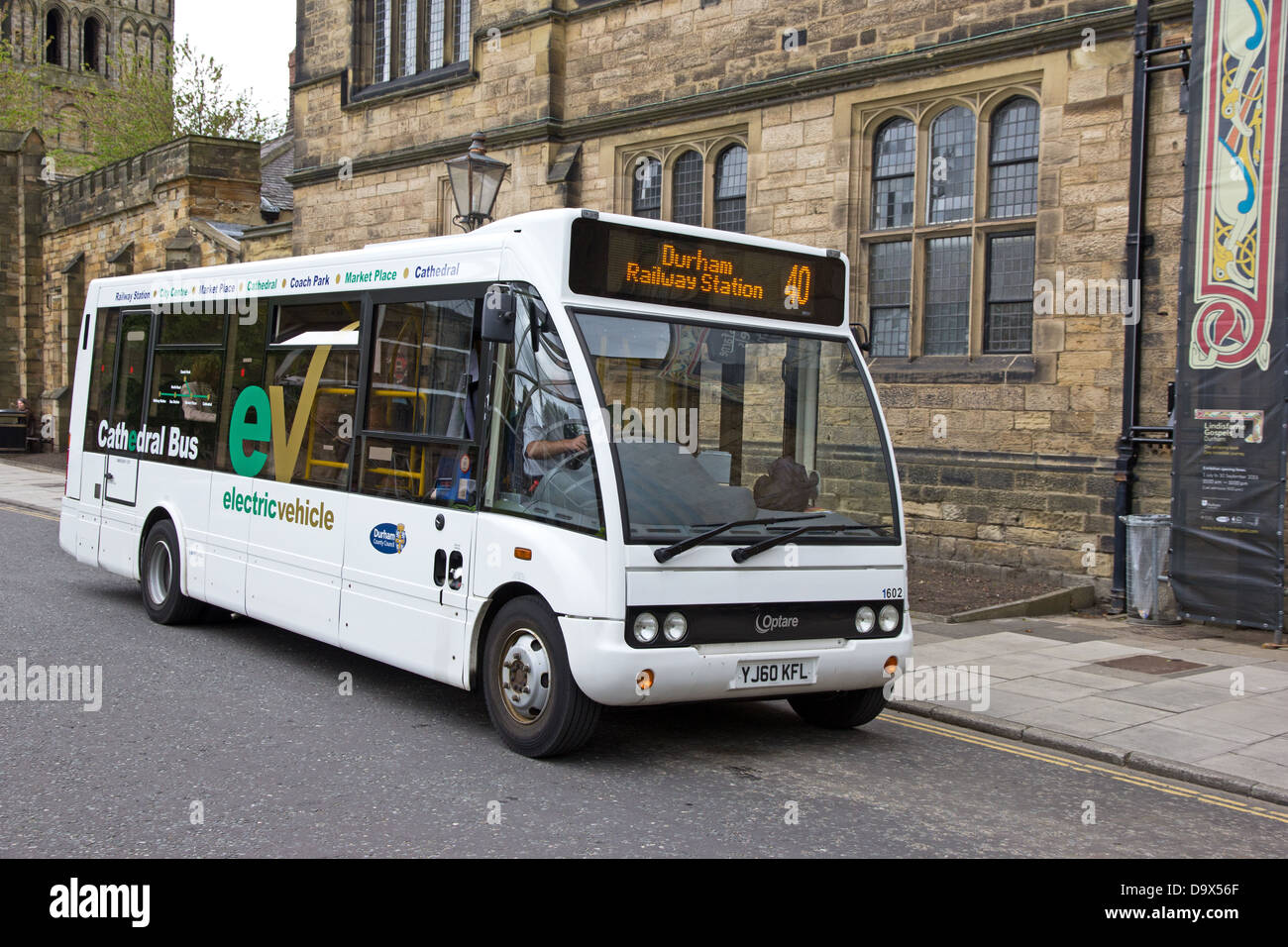Electric Powered Cathedral Bus In Durham Stock Photo 57737863 Alamy