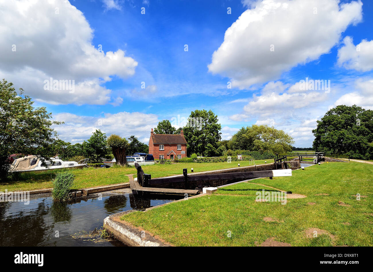 River Wey navigation at Ripley Surrey UK - Stock Image