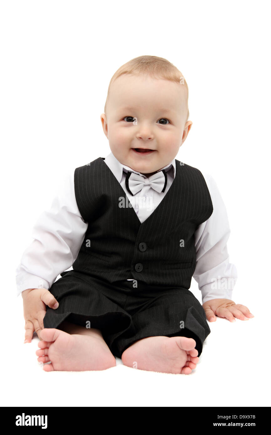 little baby in suit - Stock Image