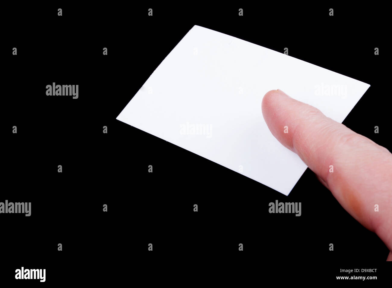 Man hand holding a blank business card Stock Photo: 57742744 - Alamy