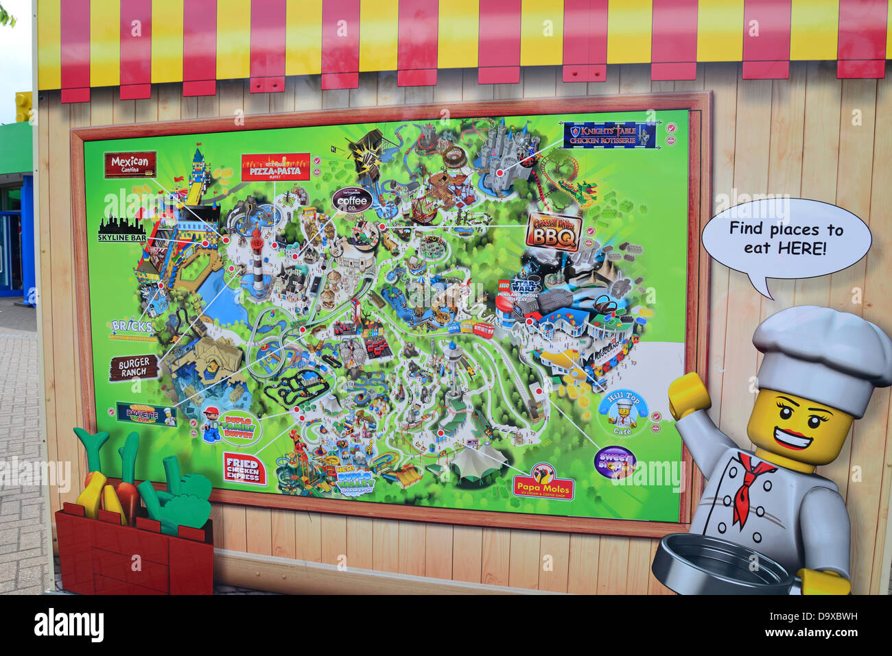 Resort map at entrance Legoland Windsor Resort Windsor Berkshire