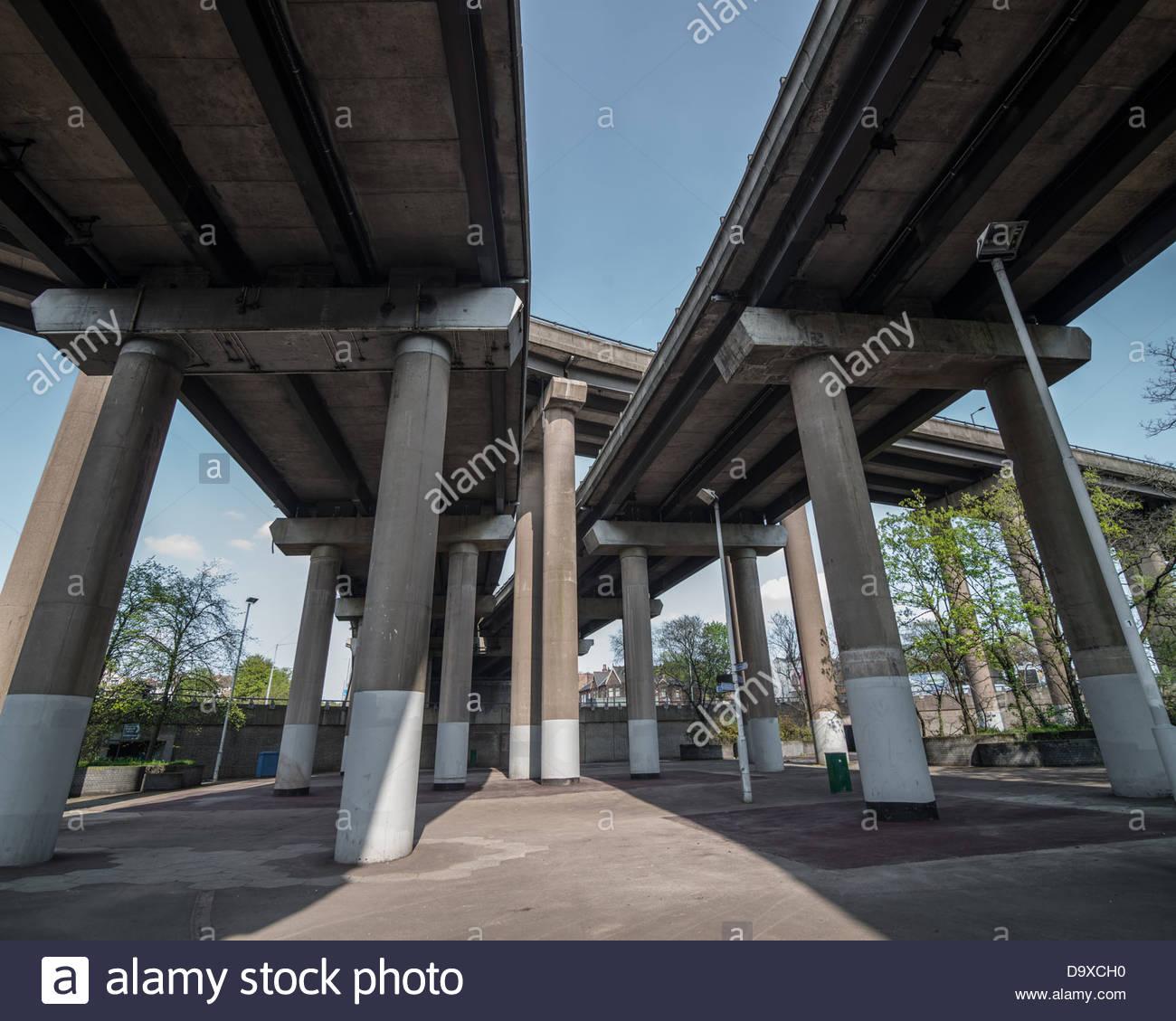 Spaghetti Junction (Gravelly Hill Interchange), West Midlands, UK - Stock Image