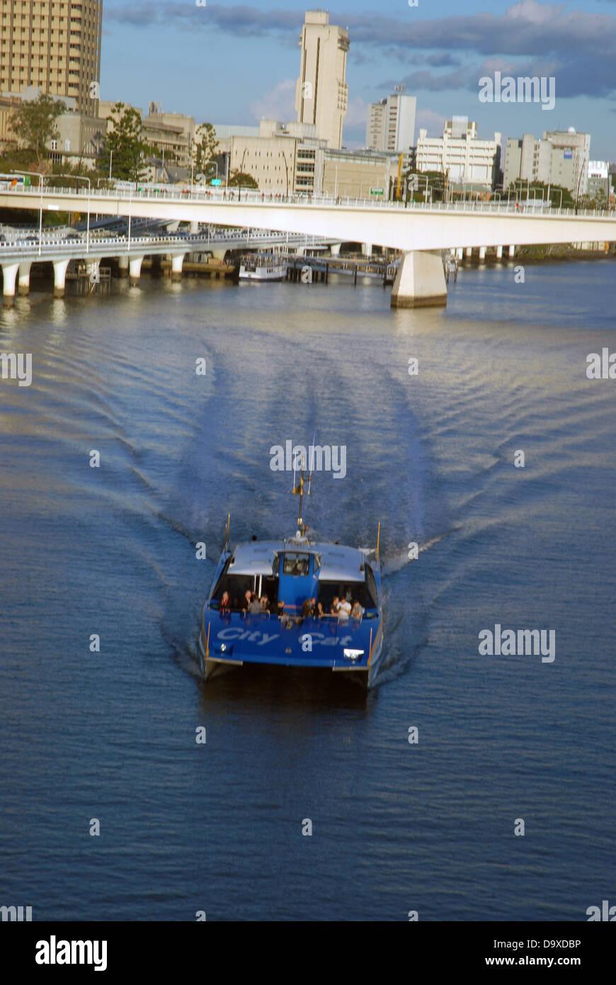 City Cat, Brisbane River, Brisbane, Queensland, Australia. - Stock Image