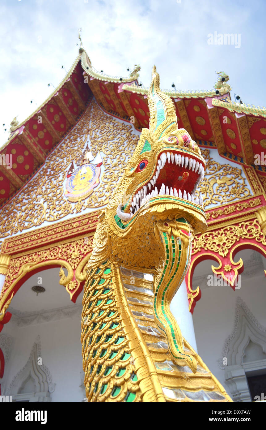 The King of Nagas who protect temple. - Stock Image