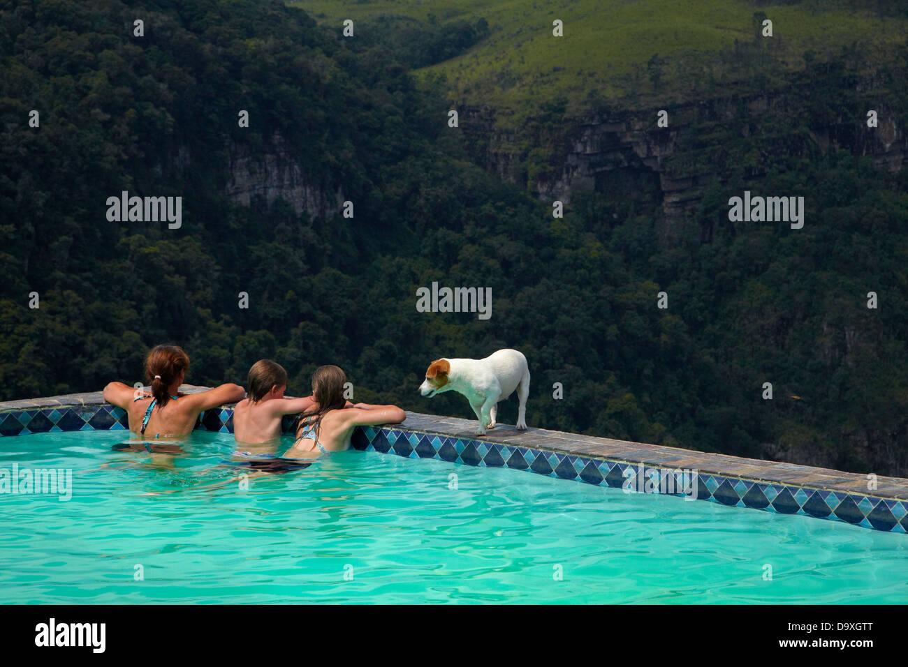 Swimming pool, Panorama Rest Camp, Graskop, Mpumalanga Escarpment, South Africa - Stock Image