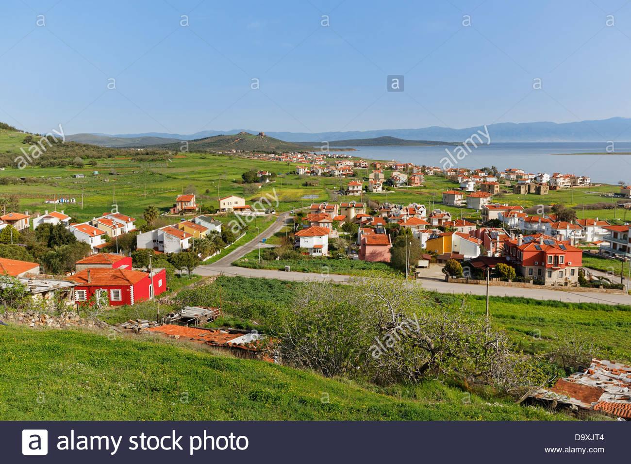 Turkey, View of Cunda island near Ayvalik - Stock Image