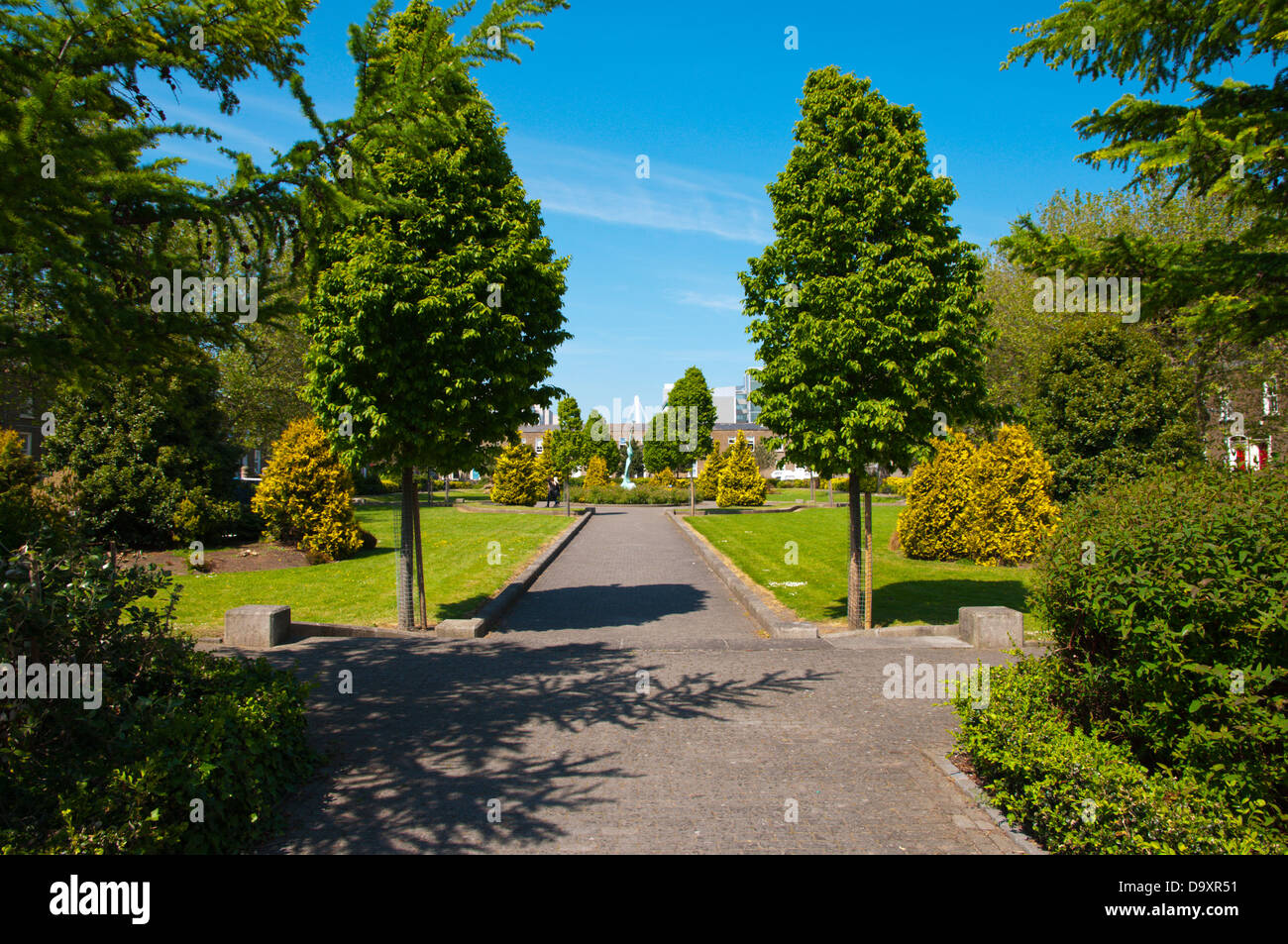 Pearse Square park Docklands area central Dublin Ireland Europe Stock Photo
