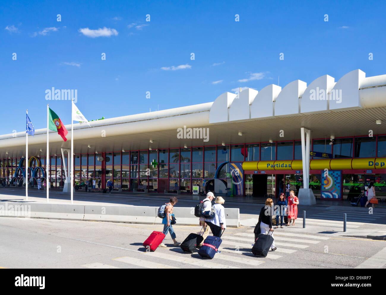 Terminal Building Faro Airport Algarve Portugal EU Europe - Stock Image