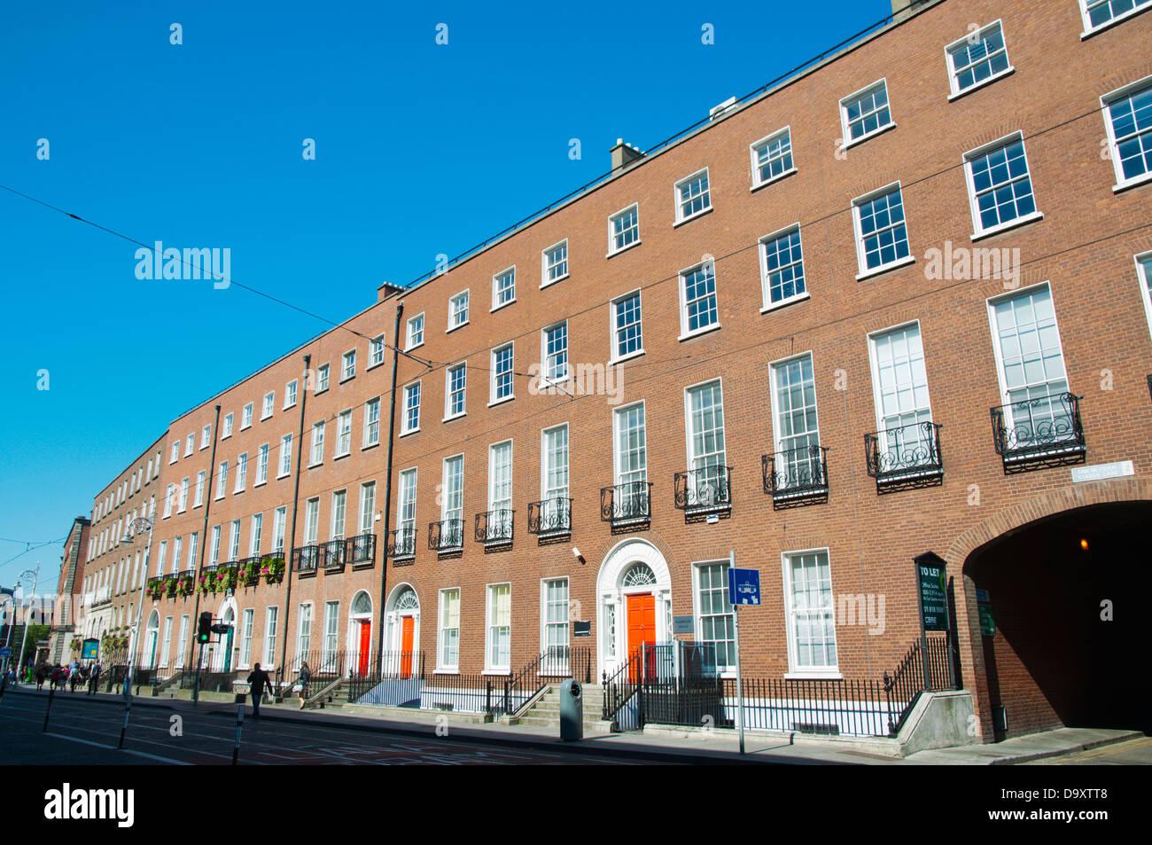 Georgian architecture along Harcourt Street central Dublin Ireland Europe - Stock Image
